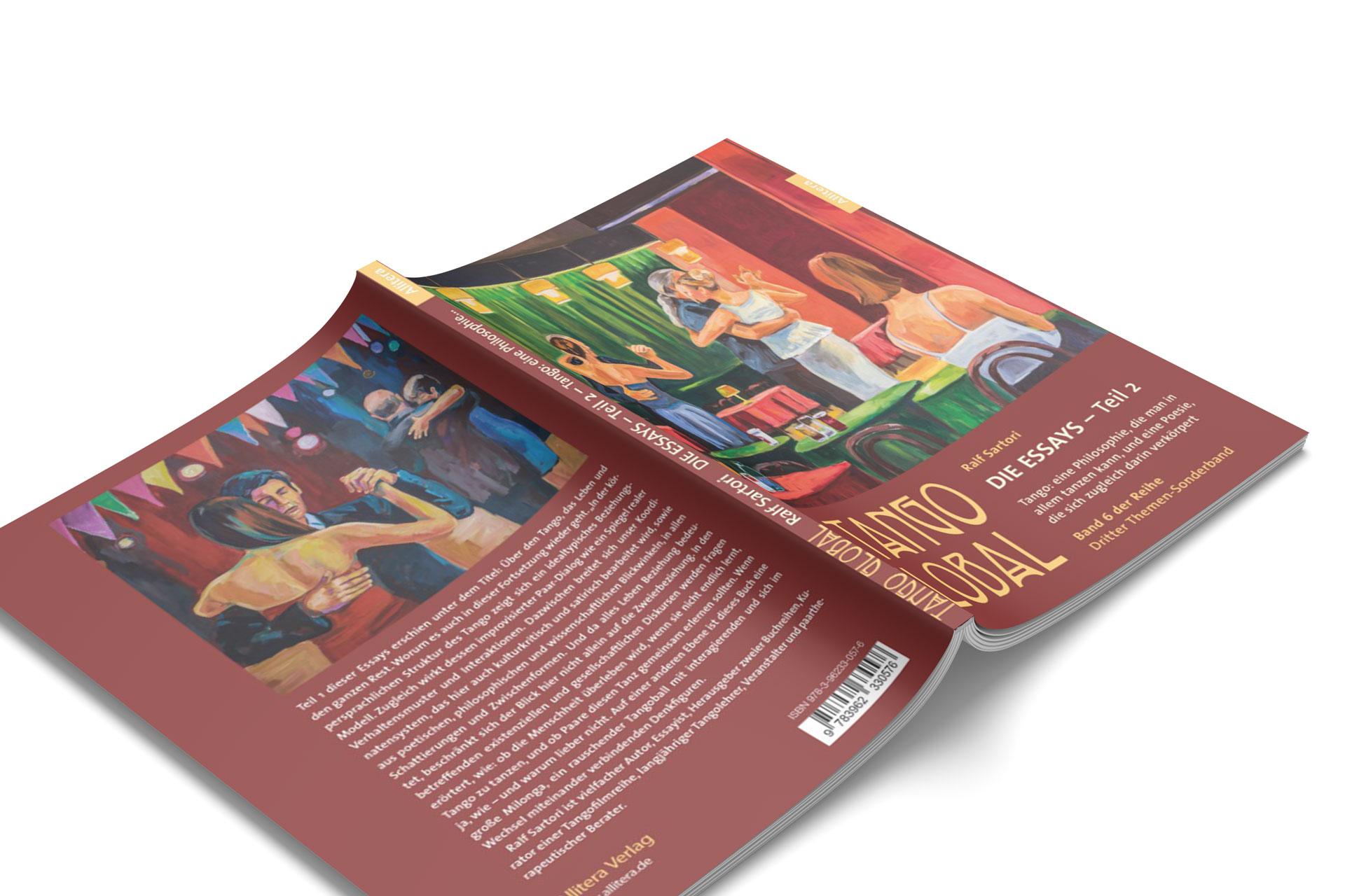 """""""Tango Global – Die Essays Teil 2"""" – Ansicht von Vorder- und Rückseite."""
