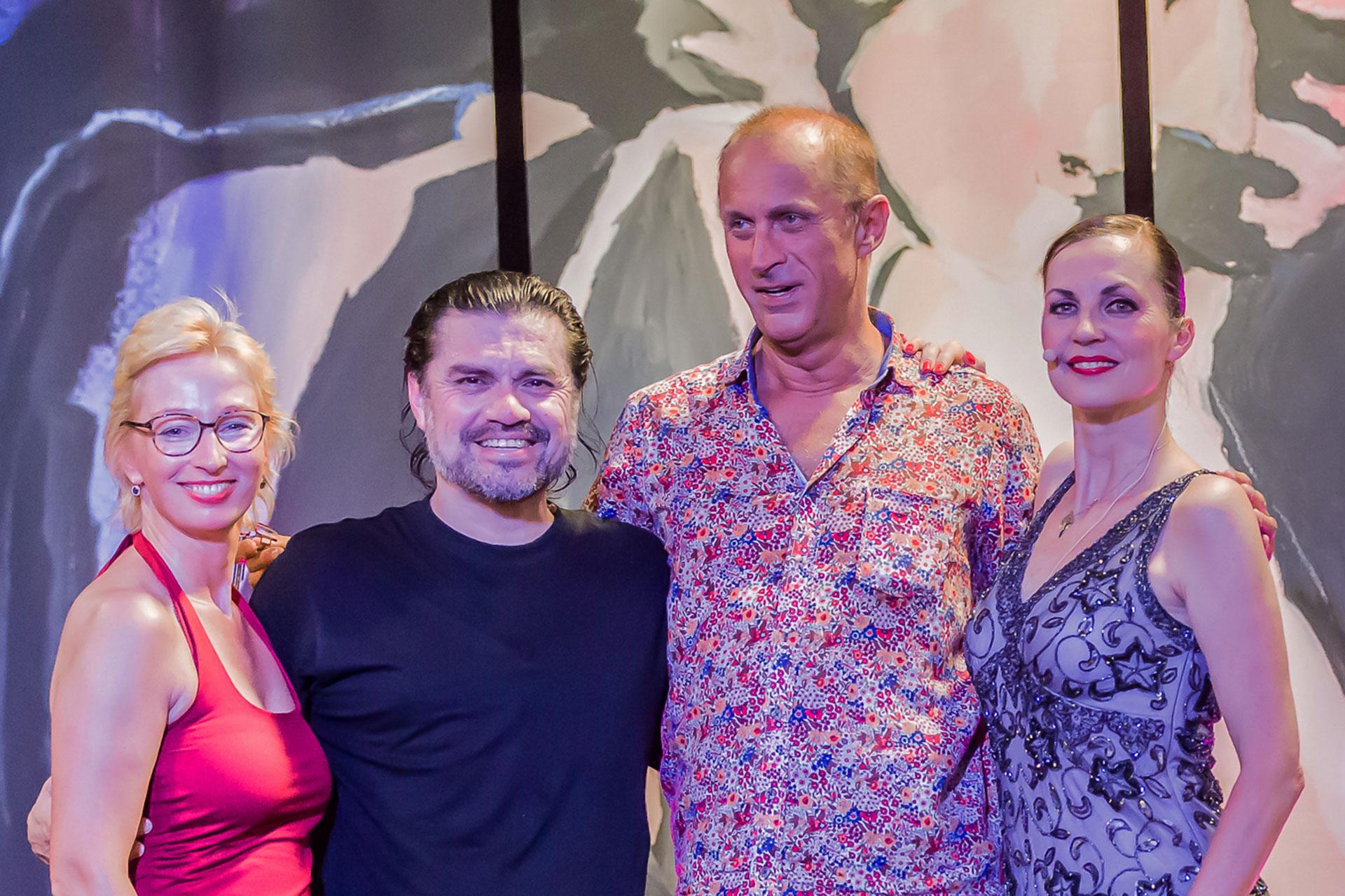 Romy Musholt, Luis Pereyra, Rainer Musholt, Nicole Nau (v.l.n.r.)