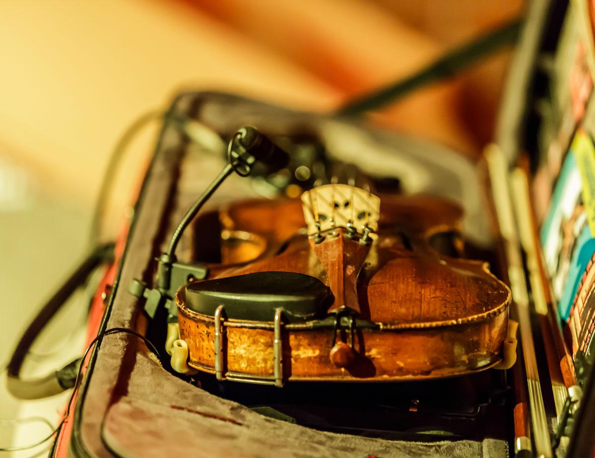 Detailaufnahme: Geige